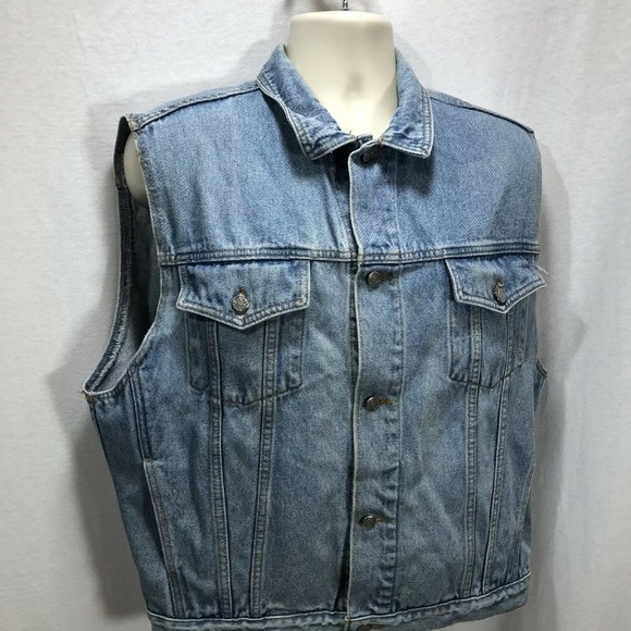 Silver Jeans Other - Men Silver Jean Denim Vest Light Wash Adjust Side